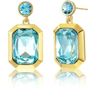 Stunning 3D Crystal Drop Earrings